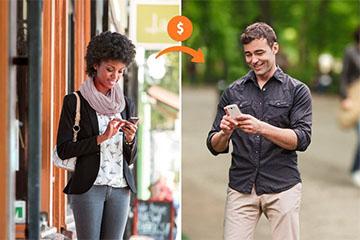 Popmoney mobile banking service