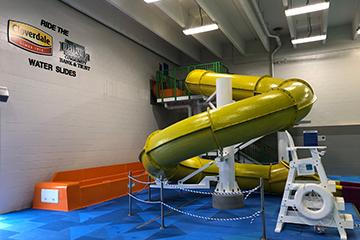 DCB&T sponsored slide at Bismarck YMCA