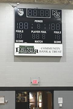 Kidder County School DCB&T Scoreboard